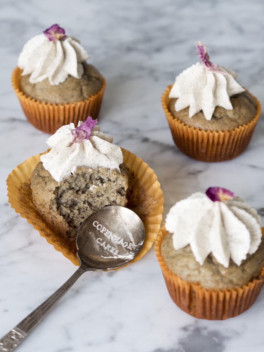 Banancupcakes med vaniljefrosting